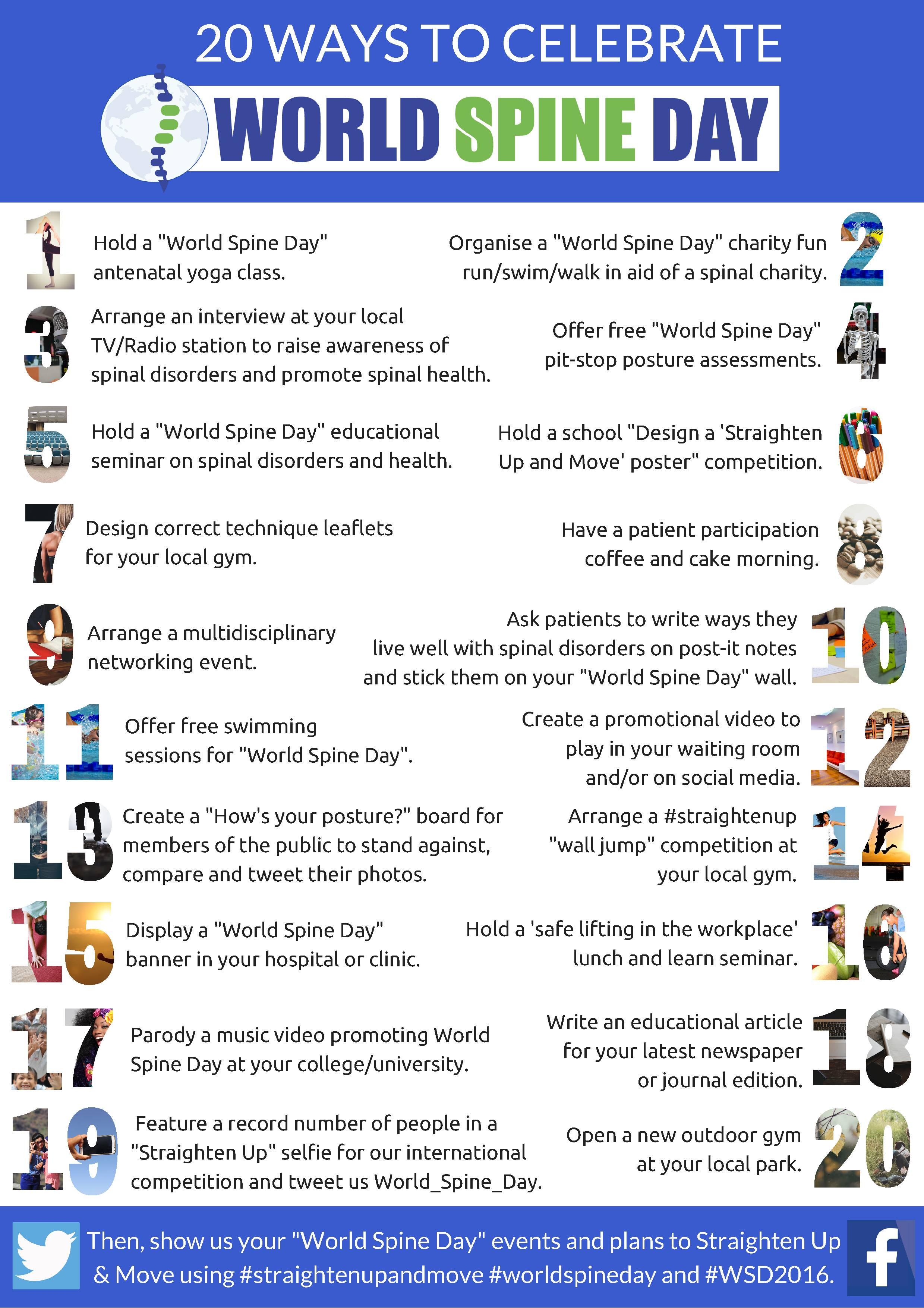 20 Ways To Celebrate World Spine Day